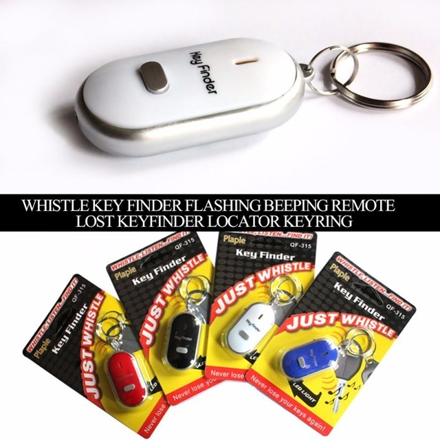 Mini Anti-lost Whistle Key Finder Flashing Beeping Remote Bag Wallet Locators