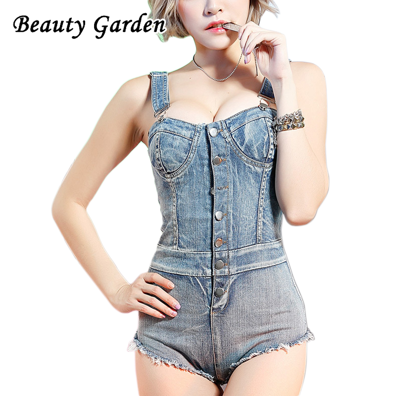 Beauty Garden Solid Women Bodysuit Sleeveless Sexy Mini Length Buttons Bodysuit Adjustable Shoulder Strap Skinny Club Bodysuit