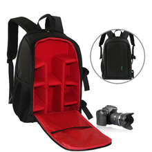 Waterproof Digital DSLR Camera Bag Photo Padded Backpack w/ Rain Cover Laptop 15.6″ Multi-functional Video Camera Soft Bag Case