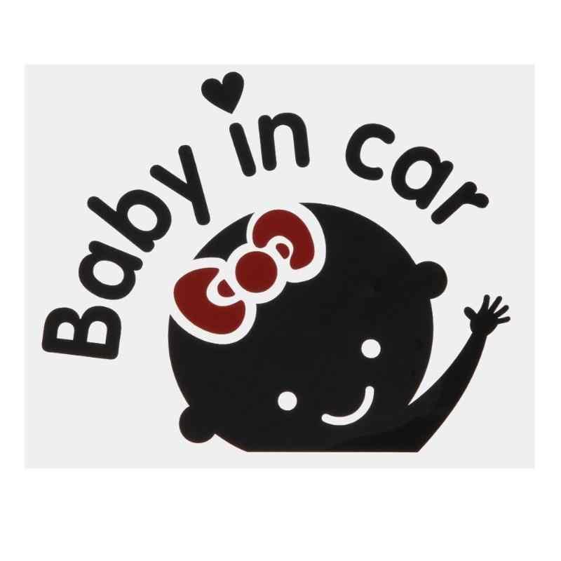 """ホットガール Baby on Board """"Baby in car"""" 窓車のステッカー反射オートトラックビニールドア警告オートデカールカーステッカーアクセサリー"""