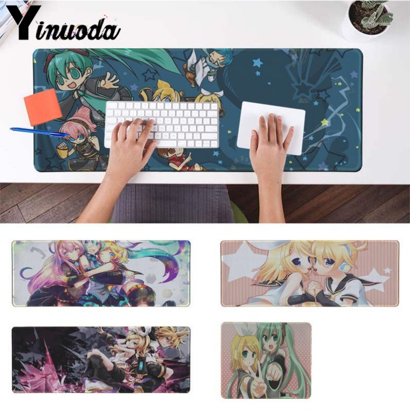 Yinuoda KAGAMINE RIN VOCALOID mouse pad gamer play mats Size for 30x90cm 40x90cm lager/small desk pad Gaming Mousepads