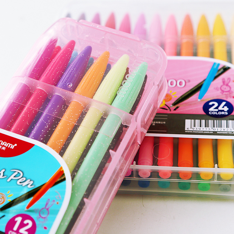 12/24/36 Colors Marker Gel Pens Plus Pen Korean Stationery Gift Office Material Escolar School Supplies Liquid-Ink 12pcs new 12 colors white board maker pen whiteboard marker liquid chalk erasable glass ceramics maker pen office school supply