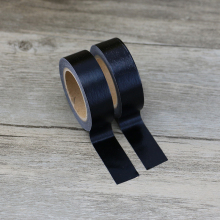 Plain Black Solid Color Washi Tape Japanese Paper 1.5cm * 10m Scrapbooking Tools Kawaii Decorative Masking Tape Stationery Tape