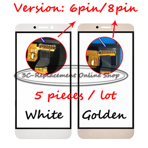 5PCS Replace High quality Touch Panel 5.5 Inch For Letv LE 1S X500 Golden/White touch screen display (Version: 6pin/8pin)(China)
