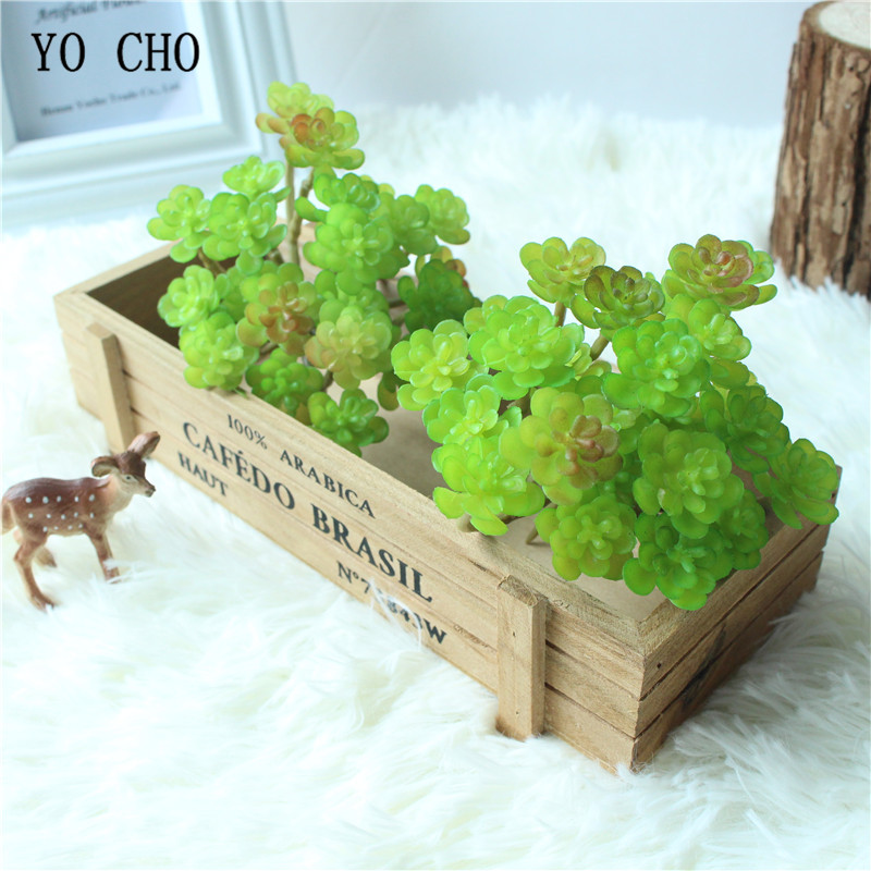 Christmas Succulent Decor.Us 1 68 44 Off Yo Cho 1pc 24 Head Artificial Lotus Succulent Plant Christmas Decorations Grass Diy Real Touch Fake Flower For Home Party Decor In