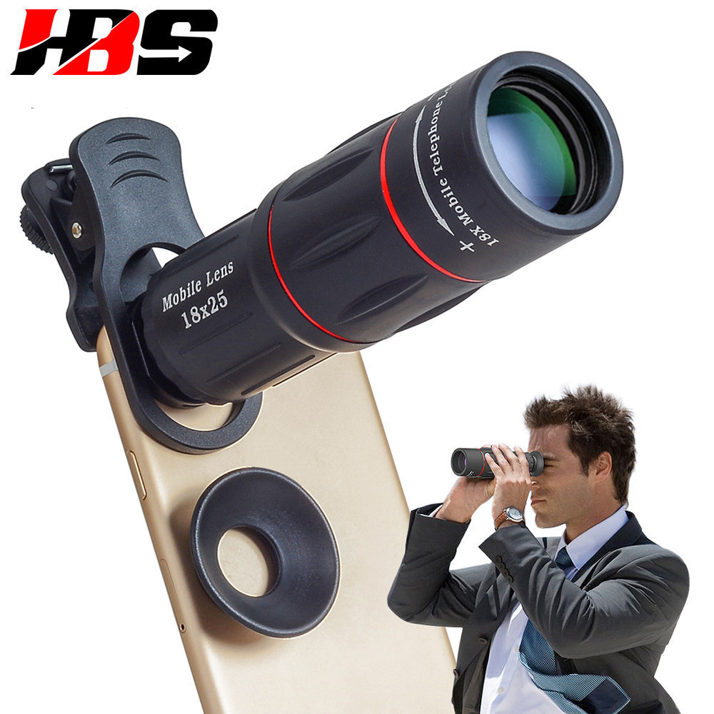 HD 18X Telescope Zoom Mobile Phone Lens Universal Clip Telefon Camera Lents With Tripod For LG G2 G3 G4 G5 G6 G7 G8 V20 V30 image