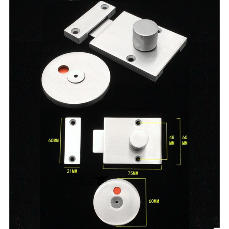 304 Stainless steel Door Lock Latch With Red Green Indicator Public Restroom Toilet Partition Thumb turn304 Stainless steel Door Lock Latch With Red Green Indicator Public Restroom Toilet Partition Thumb turn