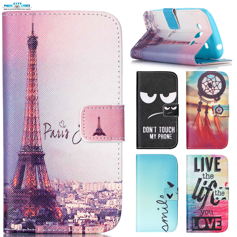 more photos daa41 cd70b US $1.9 5% OFF|Cute Printing Card clip Wallet shell For Samsung Galaxy J5  case big eye blue sky sea Paris tower pattern Flip Silicon Back Cover-in ...