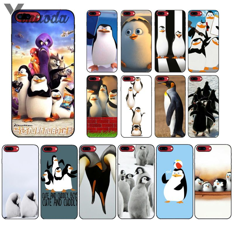 Buy Ynuoda The Penguins of Madagascar Soft Silicone black Phone Case for Apple iPhone 8 7 6 6S Plus X XS MAX 5 5S SE XR Mobile Cover for only 1.09 USD