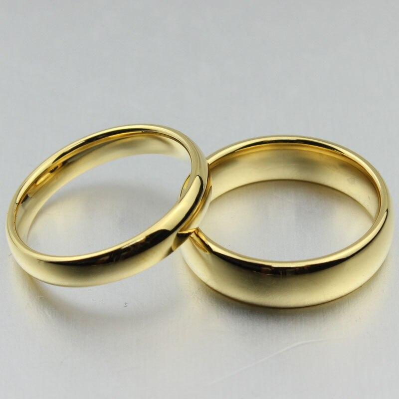 Classic Tungsten Carbide Ring 18k Gold Wedding Rings For Men Women