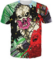 Newest Women/Men 3D Print The Latest Trend Of Digital Body Blood Horror Skull Vampire T-Shirt Casual Short Sleeve Hip Hop Tops