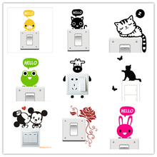 1pc Big Promotion Wholesale 20 Styles Cartoon Animal Eco Friendly Home Decoration Switch font b Sticker