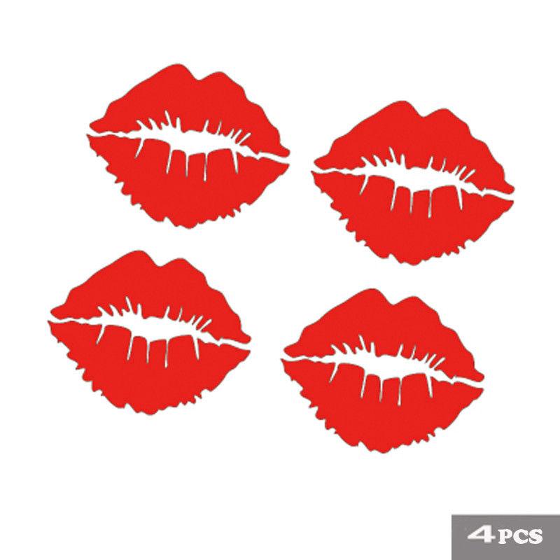Red Lips Auto For Car//Bumper//Window Vinyl Decal Sticker Decals DIY Decor Nice