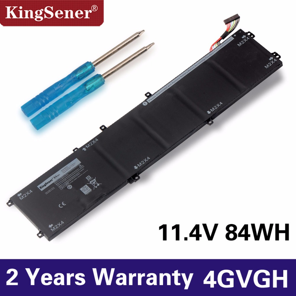 KingSener New 4GVGH Laptop Battery for DELL Precision 5510 XPS 15 9550 series 1P6KD T453X 11.4V 84WH ноутбук dell xps 15 9550 1370
