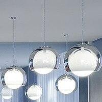 1 pcs dupla camada núcleo de vidro luz pendente de moda breve lâmpada quarto iluminação FG703