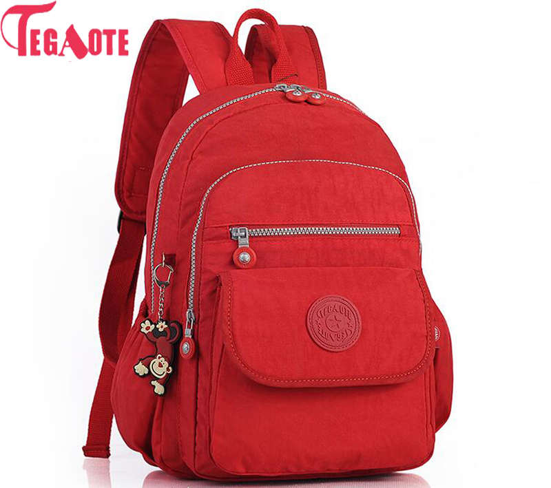 TEGAOTE Women Backpacks For Teenage Girls Nylon Backpack Female Kipled Feminine Backpack School Bagpack Mochila Feminina Bag tegaote nylon waterproof school backpack for girls feminina mochila mujer backpack female casual multifunction women laptop bag