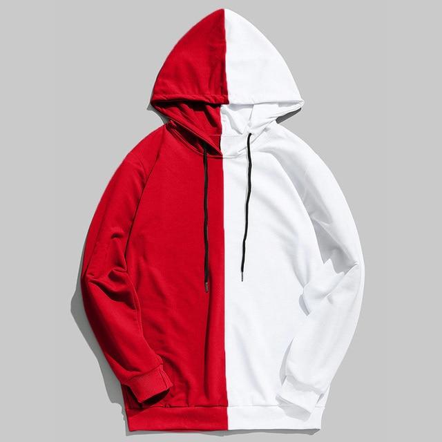 2019 Hot Sale Half Color Solid Pullover Sweatshirt Sudadera Hombre Harajuku Hip Hop Hoodies Unisex Streetwear High Quality 5