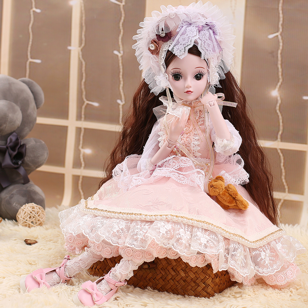 SHENGBOAO BJD Doll 19 Joints Body Makeup Princess Doll Toys for Girls Beauty Handmade Party Dress Shoes Doll for Collection blygirl blyth doll golden wave curls doll no 31bl74 joints body 19 joints normal skin the hand can be rotated