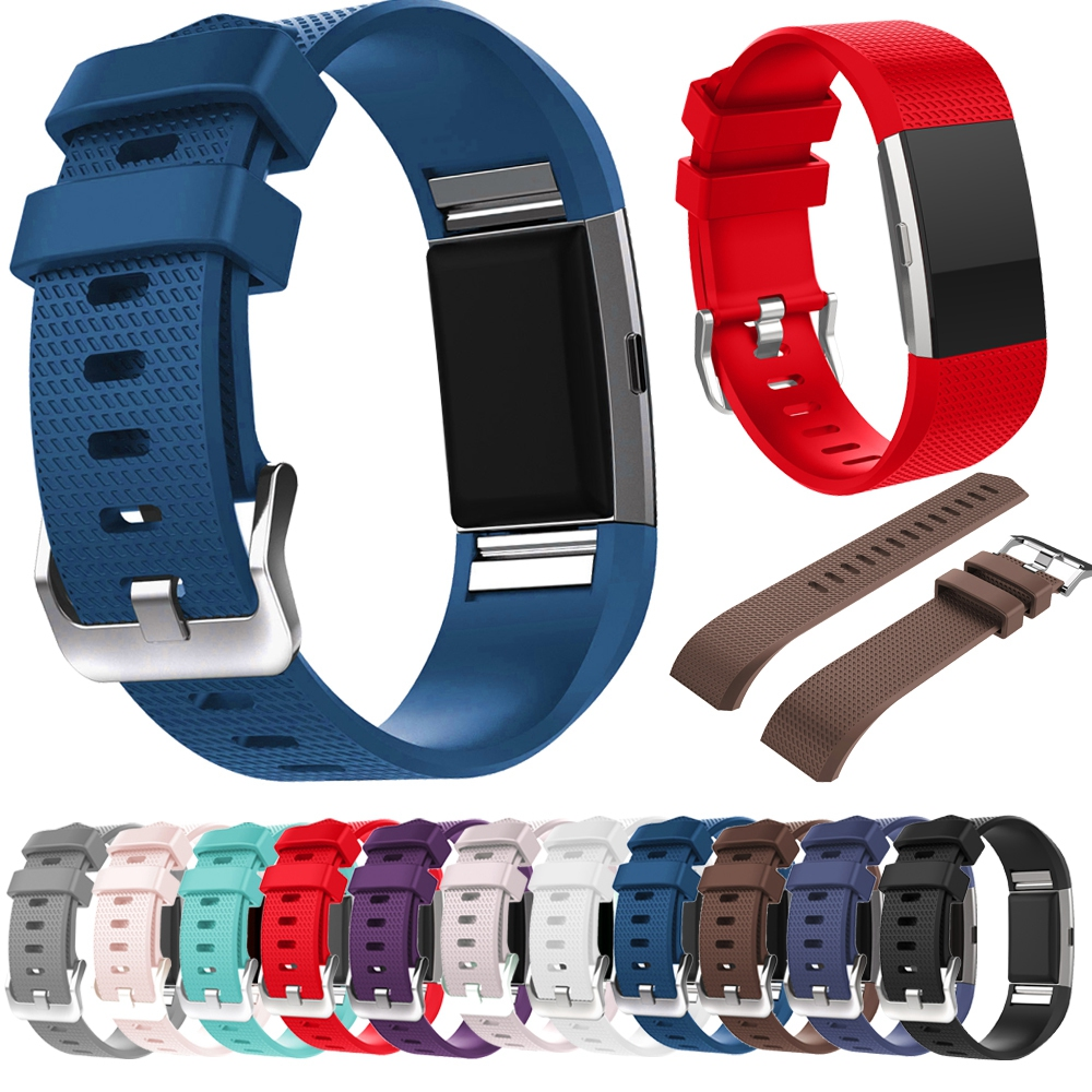 YUEDAER Size S/L smart wrist band for Fitbit Charge 2 Watch strap TPU Colorful wristbands for fitbit charge2 fitness bracelet fitbit watch