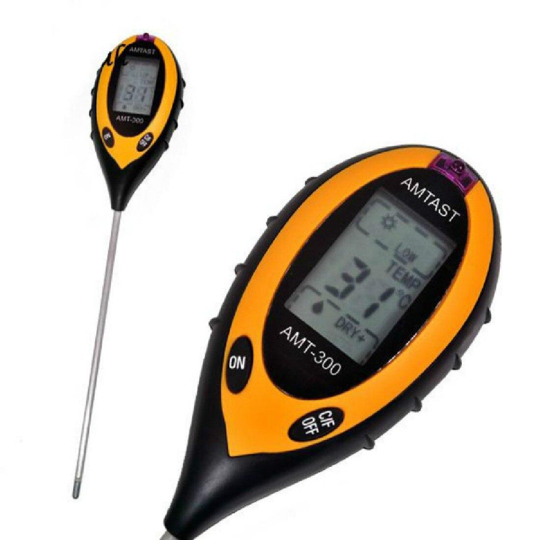 New 4 in 1 Plant Soil PH Moisture Light Soil Meter Thermometer Soil Survey font b