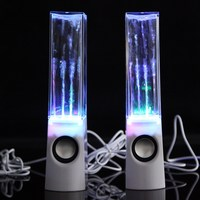 Hot FW1S 2PCS SET LED Dancing Water Fountain Show Music Light Computer Speakers For Phones Laptop