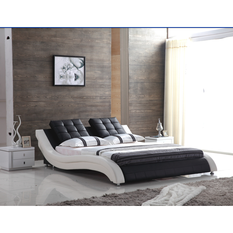US $999.0 |Modern italian furniture beds leather beds square special design  bed set-in Bedroom Sets from Furniture on AliExpress