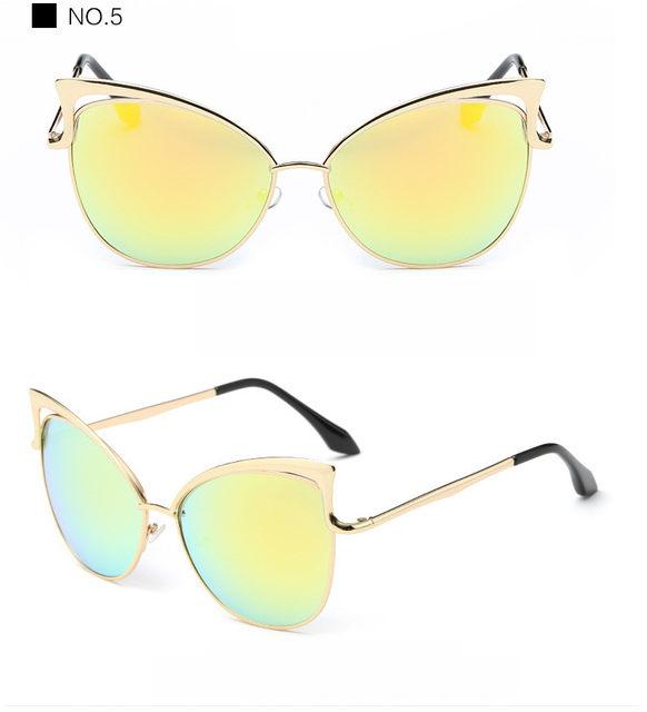 Luxury Cat Eye Sunglasses Women Brand Designer Retro Vintage Sun Glasses For Women Female Ladies Sunglass Mirror Lunettes Oculos (16)
