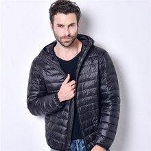 New Fashion Winter Jacket Men Casual Ultralight Breathable White Duck Downs Jacket Male Autumn Windproof Coat Jaqueta Masculina