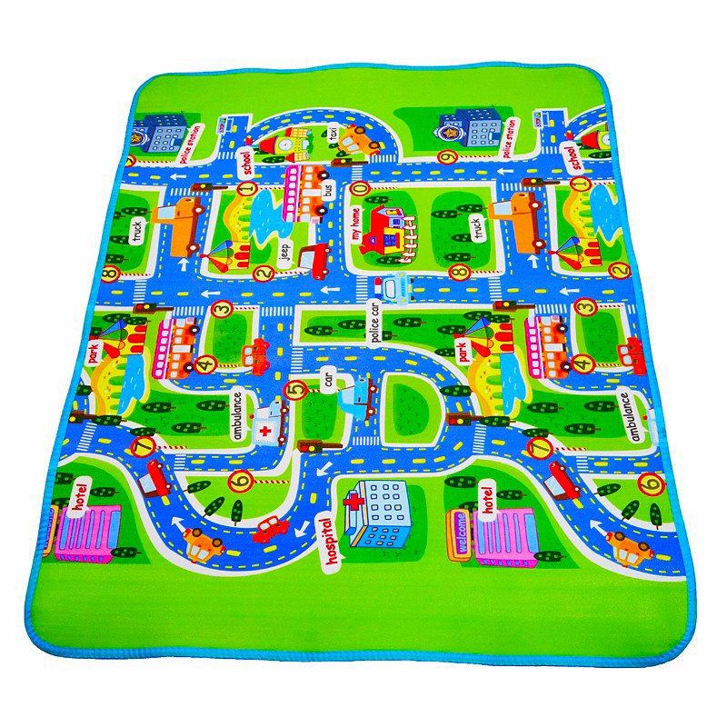 New Baby Play Crawling Mat Bedroom Baby Travel Climb Cartoon Pad Game Mats City Road Carpets For Children Play Mat 130*160*0.5cmNew Baby Play Crawling Mat Bedroom Baby Travel Climb Cartoon Pad Game Mats City Road Carpets For Children Play Mat 130*160*0.5cm