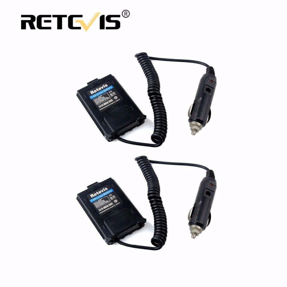 2 pcs Chargeur De Voiture Batterie Eliminator DC 12 V Pour Baofeng UV-5R UV5R Retevis RT-5R RT5R Talkie Walkie Accessoires pour dur voyage