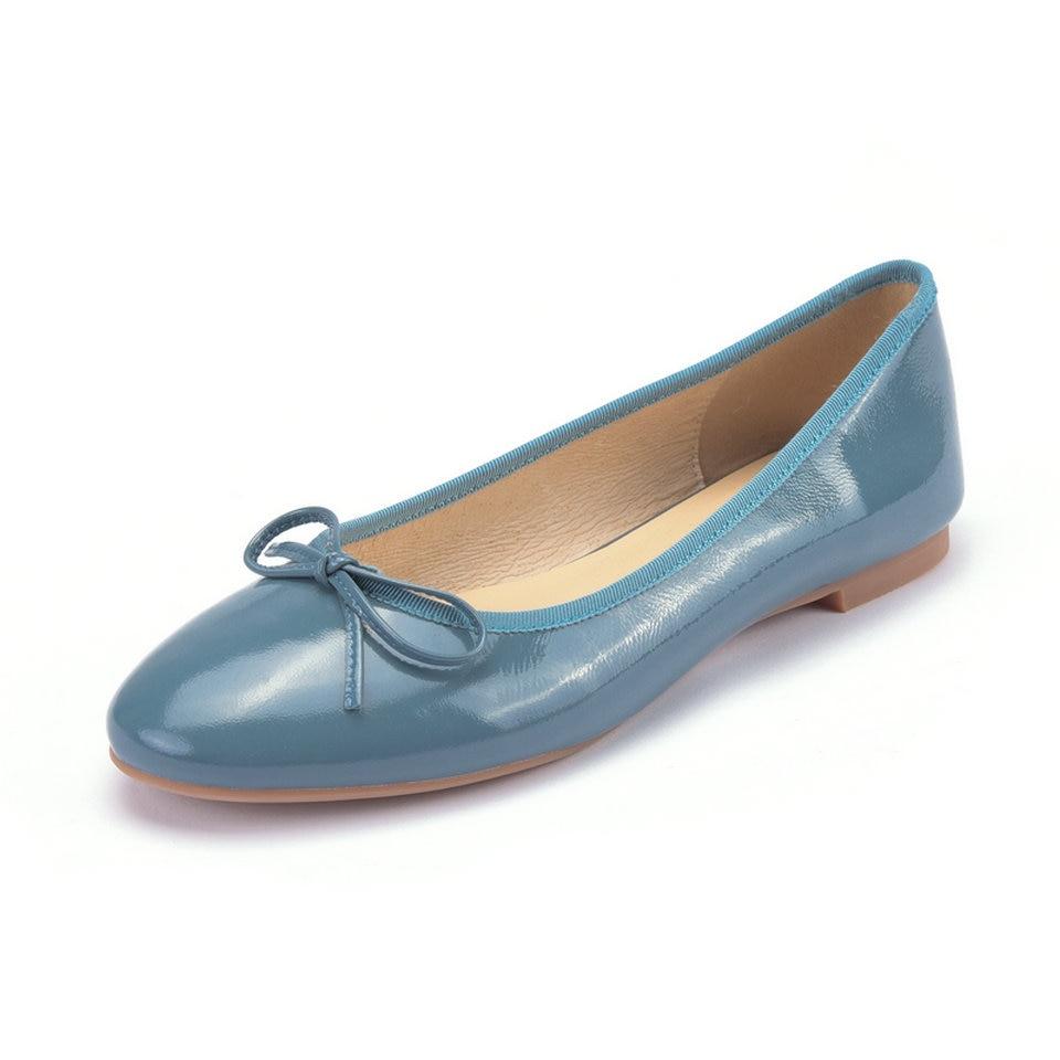 Azul Mujeres rosado 8 Planos Zapatos Pu 3 Boda Negro Verano Pisos Las De Talones Señoras Charol Eshtonshero blue Tamaño Básico Barco Punta Del BwqIxaC7