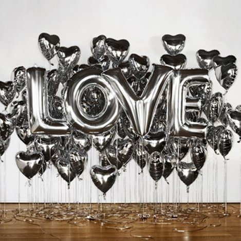 1pcs 16 cute silve alphabet letters helium balloons foil balloon birthday new year xmas party wedding decoration ballon in ballons from home garden on