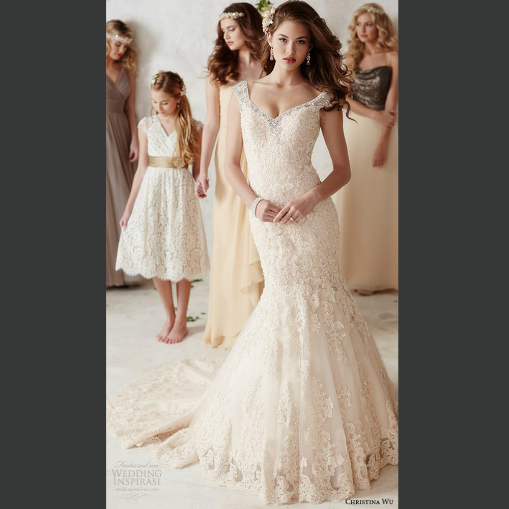 Wedding Gowns With Cap Sleeves: Princess Wedding Dresses Pictures Sexy V Neck Cap Sleeves