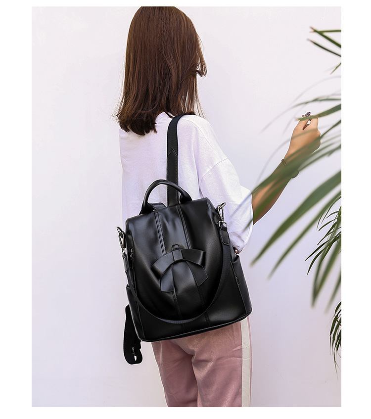 HTB15HLNUQzoK1RjSZFlq6yi4VXau - Leisure Women Backpack High Quality Leather Lady Anti Theft Shoulder Bags Lovely Girls School Bags Women Traveling Backpack