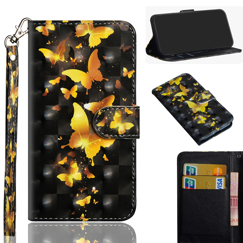 Butterfly PU Leather <font><b>Flip</b></font> <font><b>Case</b></font> For <font><b>Samsung</b></font> A70 <font><b>A20E</b></font> <font><b>Case</b></font> A50 A10 <font><b>E</b></font> Mobile Phone Wallet Cover Bag For Galaxy A40 A30 A80 A90 <font><b>Case</b></font> image