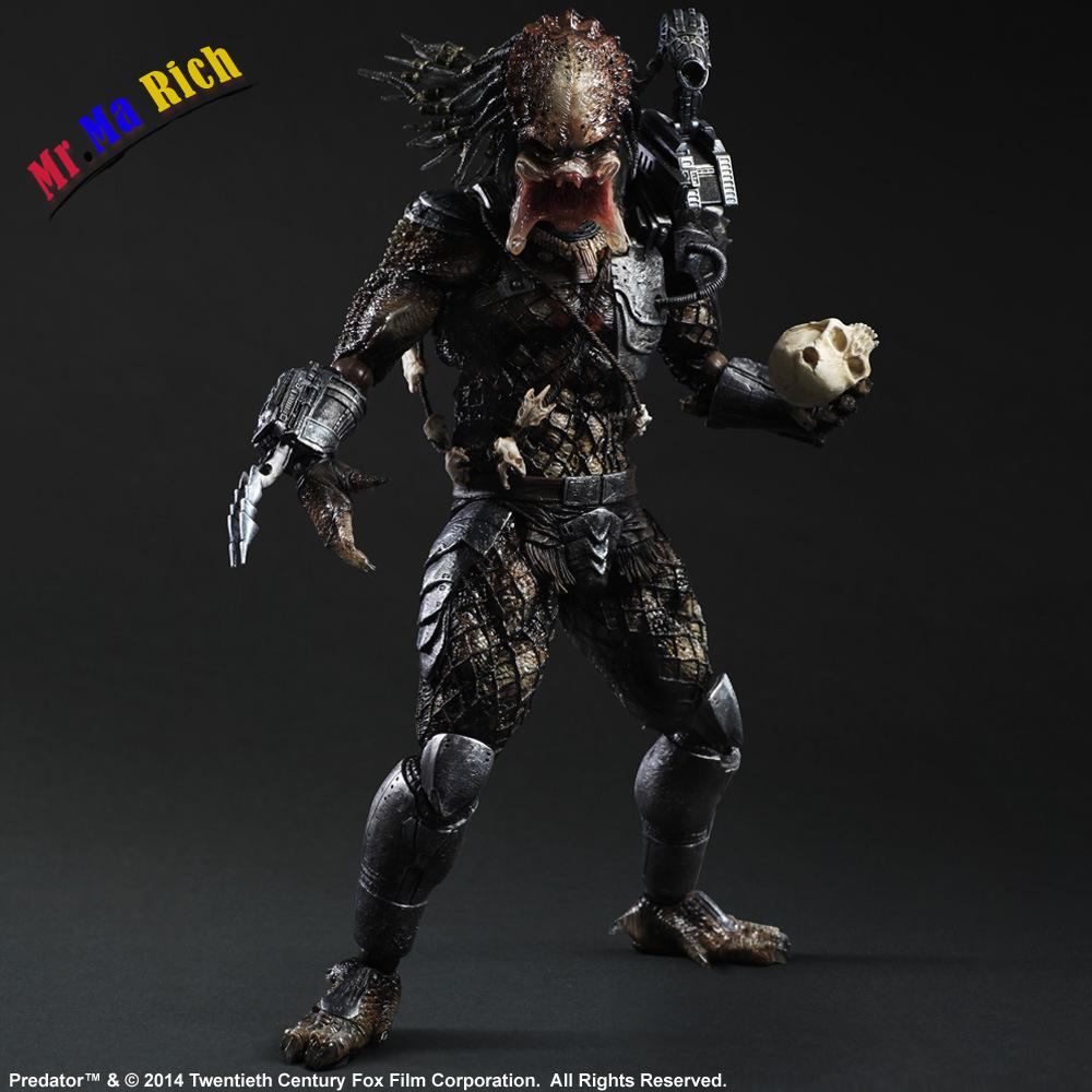 Play Arts Kai Alien Vs Predator P1 America Movie Rpg Game Alien Movable Action Figure Toys 27cm Collection Model saintgi alien covenant alien vs predator alien pvc 19cm animated action figure collection model dolls kids toys