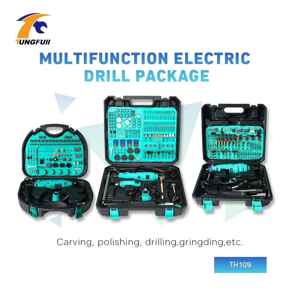 Tungfull Dremel Rotary Tool 30000RPM Dremel Accessories Set Mini Electric Grinder Mini Drill Engraver Carving Polishing