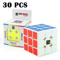 30 шт. MoYu MF3RS Professional Competition Magic cube гладкая белая красочная наклейка головоломка Классические игрушки трехслойные Neo Cube