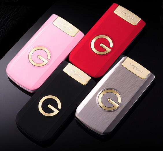 Tirón de lujo Superior de Metal Teléfono G3 Dual SIM Teclado Grande/sonido Ancianos/Hombre Padres Regalo Del Teléfono Celular Ruso Francés idioma