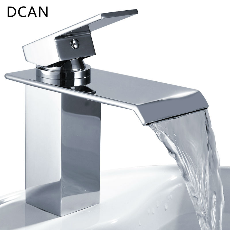 Bar Sink Faucets Basin Faucets Waterfall Faucet Single Handle Basin Hot and Cold Mixer Tap Bathroom