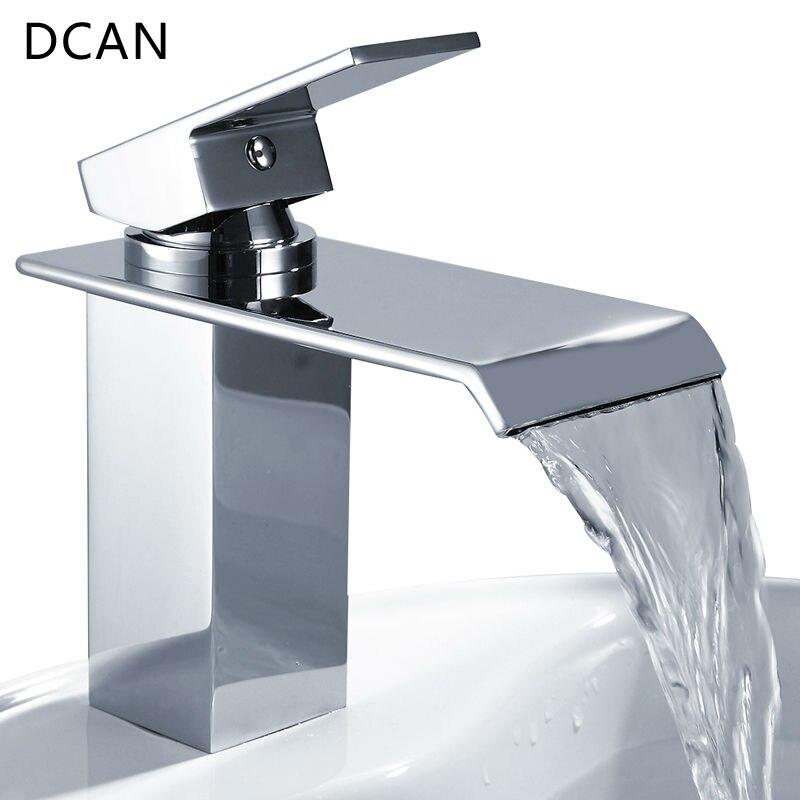 bar lavello rubinetti rubinetti del bacino cascata rubinetto singola maniglia del bacino calda e fredda miscelatore