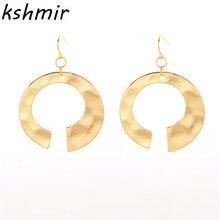 South Korea fashion jewelry wind Ms geometric modelling pendant earrings contracted wholesale