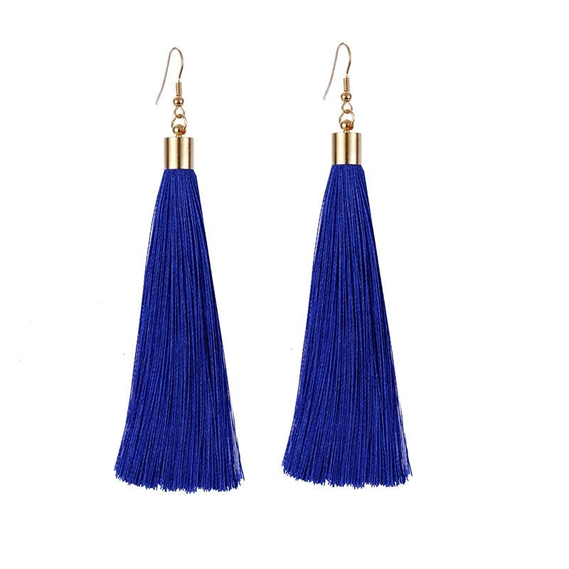 8100b0e4c 2018 New Boho Luxury Beads Brand Long Tassel Drop Dangle Earring for Women Vintage  Ethnic Statement Fashion Jewelry ...