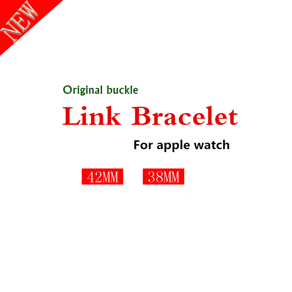Original real Genuine For Apple watch Band 4 44mm 40mm 42mm 38mm Stainless Steel Link Bracelet