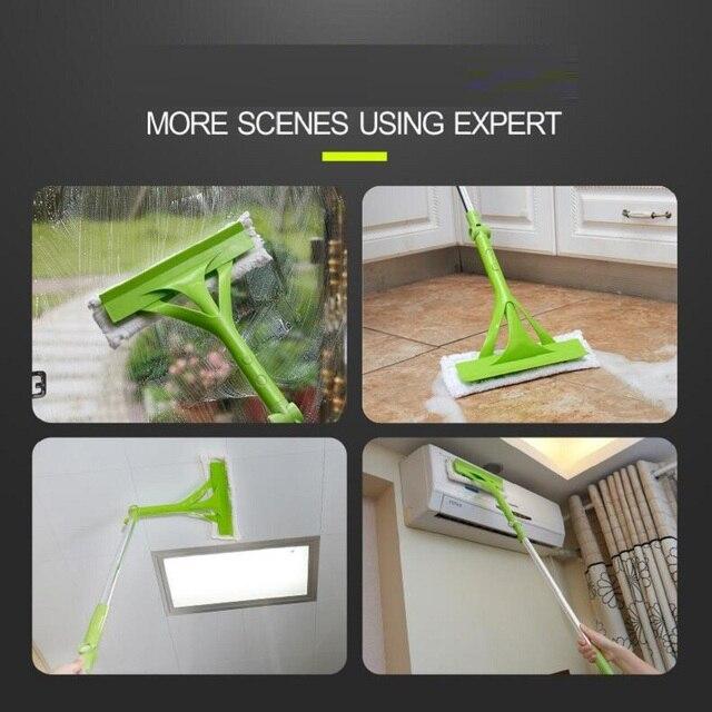 New Telescopic High-rise Cleaning Glass Sponge Mop Multi Cleaner Brush Washing Windows Dust Brush Easy Clean the Windows Hobot 2