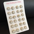 12PCS/LOT Fashion Shambhala Crystal Ball Stud Earrings for Women Wedding Jewelry Gift Wholesale