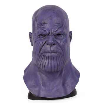 Avengers endgame cosplay Thanos Maschera Maschera Casco Integrale Casco Halloween Cosplay Lattice Maschere di Carnevale Puntelli Per