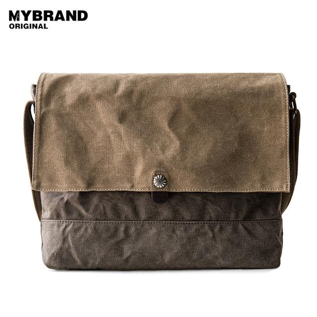 c56ad9c7c750 MYBRANDORIGINAL crossbody bag men s single shoulder bag two kinds of color  is patchwork wax canvas messenger bag for man B86