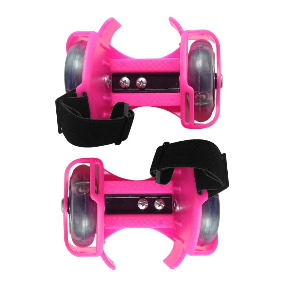 3-Colors Light Flashing Roller Small Whirlwind Pulley Adjustable Simply Roller Skating Shoes With Dual Wheels Light 2018 New