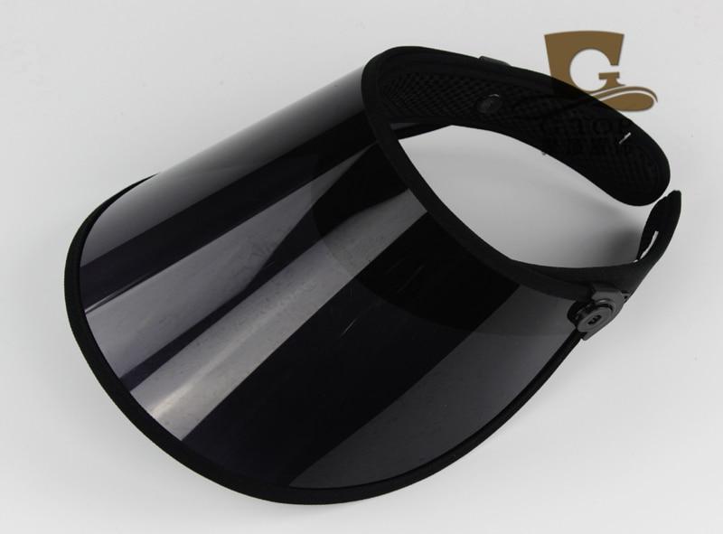 2016 new fashion new UV protection clear plastic sun visor